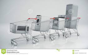 home appliances in the shopping cart e commerce or online