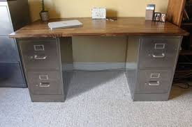 metal desk with file cabinet 4 drawer rustic desk metal filing cabinet industrial desk
