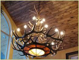 Antler Chandelier Kit Antler Chandelier Tutorial Elk Antler Chandelier Lighting Home