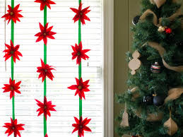 60 christmas crafts for kids poinsettia red felt and streamers