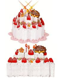sweet strawberry shortcake blow out candles lights and melody pop