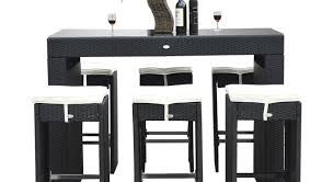 bar impressive round outdoor furniture wicker set table