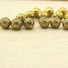gold plated bead necklace images 10 pcs gold plated beads diy jewelry making supplies beads for jpg