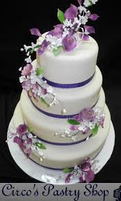 wedding cake lavender italian bakery fondant wedding cakes pastries and