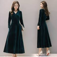 taobao velvet green dress popular velvet green dress of taobao