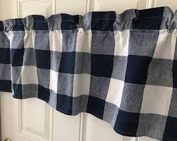 Blue Buffalo Check Curtains Check Curtains Etsy