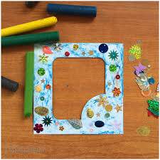 kids craft photo frame from zestio pouch box zestio