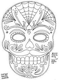 Day Of The Dead Mask Day Of The Dead Masks Drawings Google Search Sugar Sculls