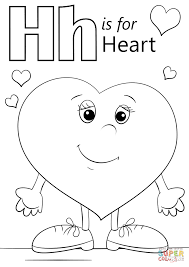 letter h is for heart coloring page free printable coloring pages