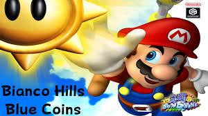 super mario sunshine bianco hills blue coin guide youtube