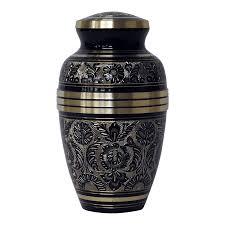 creamation urns onyx black brass cremation urn safe passage urns