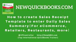template for sales receipt quickbooks pro premier desktop how to create sales receipt quickbooks pro premier desktop how to create sales receipt template to enter daily sales summary youtube
