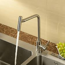 modern kitchen faucets stainless steel stainless steel contemporary rotatable kitchen faucet brushed