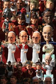 pope francis souvenirs souvenir figurines of pope francis bishop of rome editorial image