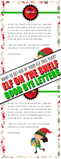elf letter template elf on the shelf goodbye letter free printable