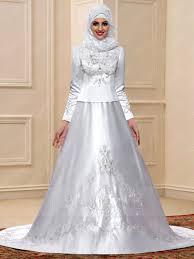 muslim wedding dresses fancy embroidery sleeves court muslim wedding dress