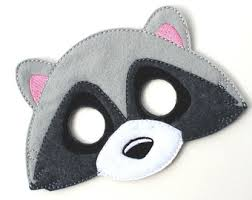 Raccoon Halloween Costumes Raccoon Mask Etsy