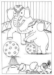 free printable circus coloring pages kids