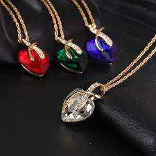 crystal heart pendant necklace images Crystal heart necklase my gear place jpg