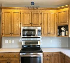 how to update oak kitchen cabinets before and after update oak or wood cabinets without a drop of paint