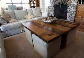 Coffee Table With Ottoman Seating Coffee Table With Ottomans Underneath Foter