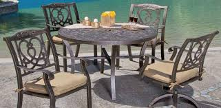 Dining Room Table With Swivel Chairs by Madrid Collection Castelle Luxury Outdoor Furniture