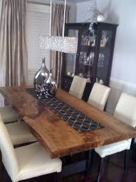 slab dining room table reclaimed poplar live edge slab dining table contemporary dining