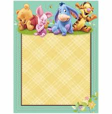 winnie blank winnie the pooh baby shower invitations the pooh baby