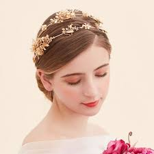 headdress for wedding the new golden hair hoop crown headdress wedding accessories