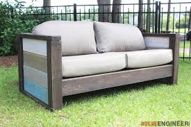 Outdoor Sofa Bed Rogue Engineer Free Plans Outdoor Wood Plank Loveseat