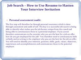 Resume Job Search by Job Search U2013 How To Use Resume To Hasten Your Interview Invitation