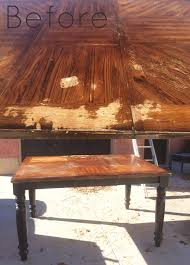 how to wood veneer furniture dining room table makeover refinishing a wood veneer table