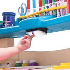 Kids Art Desk And Chair by Kids Preschool Art Painting Desk Homework Table W Light Shelf