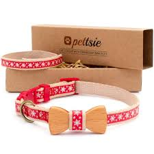 red friendship bracelet images Pettsie christmas cat collar with wood bow tie and friendship bracelet jpg
