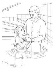 jesus baptism by john the baptist coloring pages in page at being