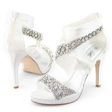 dyeable wedding shoes wedding shoes ideas side floral rhinestonesclose toes high heel