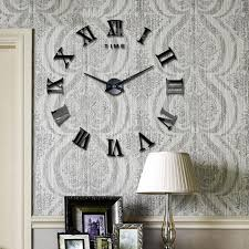 mirror home decor diy large 3d wall clock mirror sticker metal watches numeral