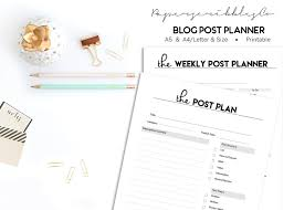 social media planner social media planner printable blog planner project planner