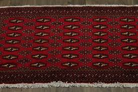 Tribal Persian Rugs by Tribal Small Size Hand Knotted Red Turkoman Persian Rug Oriental