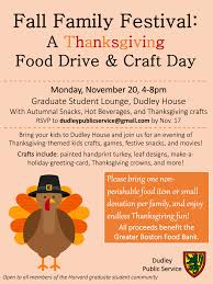 fall family festival a thanksgiving food drive craft day dudley
