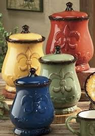 fleur de lis canisters for the kitchen fleur de lis kitchen collection on ebay