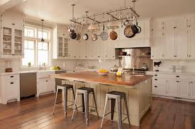 kitchen pot rack ideas pot rack island cottage kitchen tim barber pertaining to pan