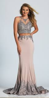 pretty jersey dress with lace bodice dave and johnny a4415