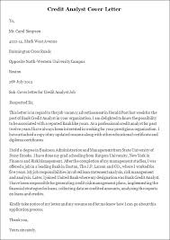 sample credit analyst cover letter credit analyst cover letter