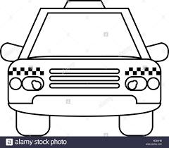 taxi cab car public transport outline stock vector art