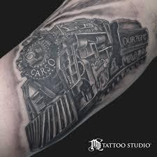 md tattoo studio train engine tattoo