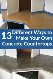 Kitchen Countertop Ideas On A Budget by Best 25 Concrete Kitchen Countertops Ideas On Pinterest Farm