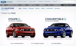 mustang car 2014 price 2014 ford mustang configurator is now stangnet