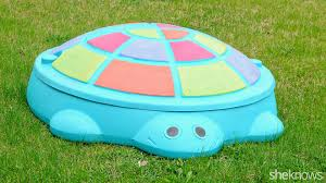make over a dingy old sandbox so it looks fresh for summer fun