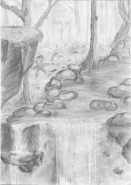 easy pencil sketches of landscapes pencil drawing collection